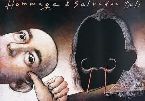 Hommage a Salvador Dali Mieczysław Górowski Polish exhibition poster