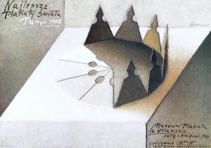 Best posters of the world, Paris 1988 Mieczysław Górowski Polish exhibition poster