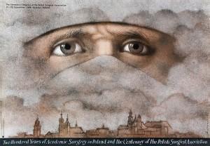 200 Years of Academic Surgery Mieczysław Górowski Polish poster art