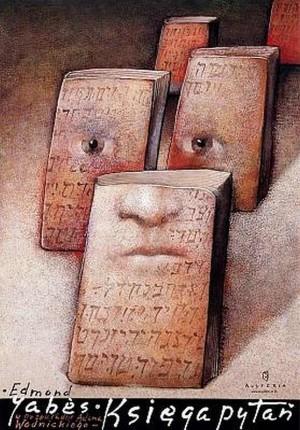 Book of Questions Edmond Jabès  Polish Poster