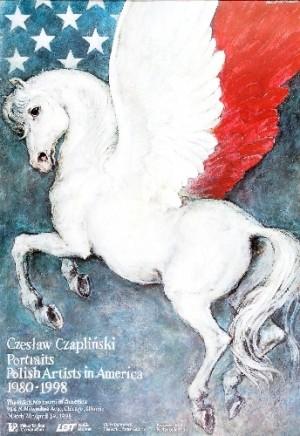 Czesław Czapliński - Portraits Polish artists in America Wiesław Grzegorczyk Polish Poster