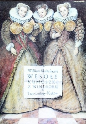 Merry Wives of Windsor Wiesław Grzegorczyk Polish Poster