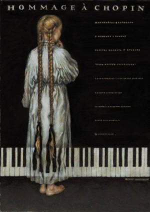Hommage a Chopin Wiesław Grzegorczyk Polish music poster