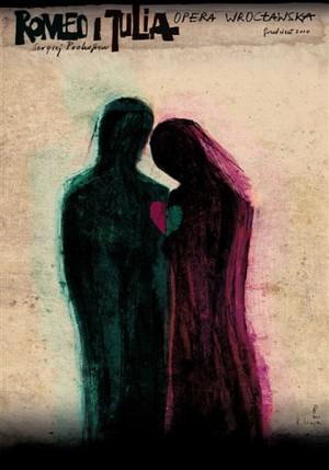 Romeo and Julia Sergiusz Prokofiew Ryszard Kaja Polish opera poster