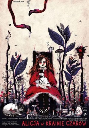 Alice in Wonderland Ryszard Kaja Polish theater poster