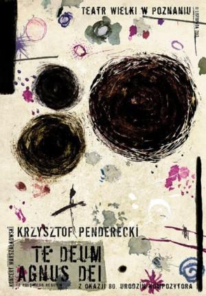 Krzysztof Penderecki Te Deum Agnus Dei Ryszard Kaja Polish music poster