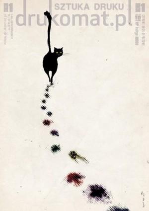 Art of Print. Advertising for a print factory Ryszard Kaja Polish poster art