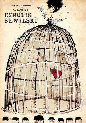 Barber of Seville Gioachino Rossini Ryszard Kaja Polish opera poster