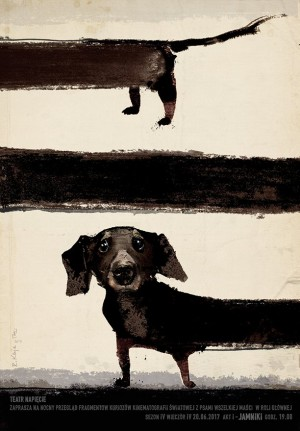 About dachshunds Ryszard Kaja Polish theater poster