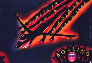 The Rolling Stones Roman Kalarus Polish music poster