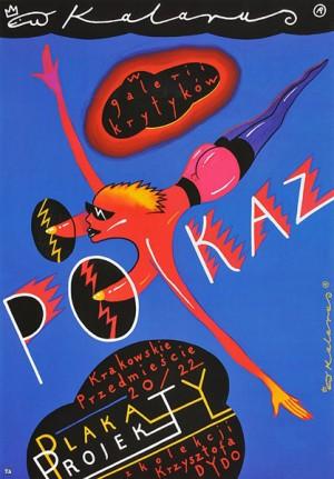 Exhibition in Gallery Krytyków Roman Kalarus Polish exhibition poster