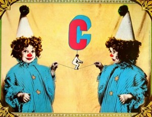 Circus Two Clowns Andrzej Klimowski Polish circus poster