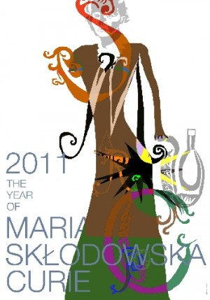 Year of Maria Sklodowska Curie 2011 Leonard Konopelski Polish poster art