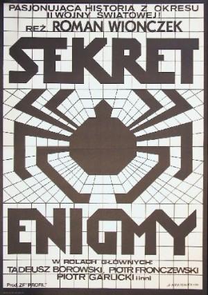 Secret of Enigma Roman Wionczek Andrzej Krajewski Polish movie poster