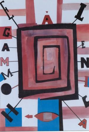 Hommage a Jan Lenica Sebastian Kubica Polish exhibition poster