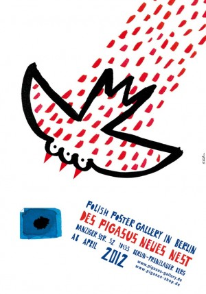 Pigasus new nest Sebastian Kubica Polish exhibition poster