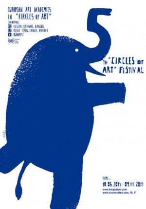 Circles of Art Sebastian Kubica Polish exhibition poster
