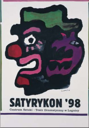 Satyrykon 1998 Jan Lenica Polish exhibition poster