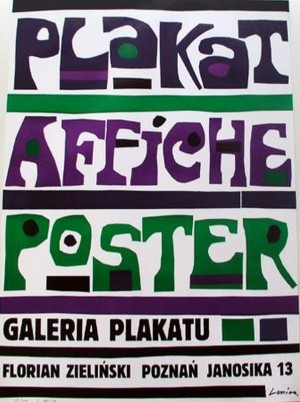 Plakat Affiche Poster Jan Lenica Polish exhibition poster
