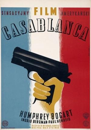 Casablanca Michael Curtiz Eryk Lipiński Polish movie poster