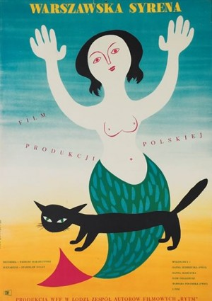 Mermaid of Warsaw Stanisław Bareja Eryk Lipiński Polish movie poster
