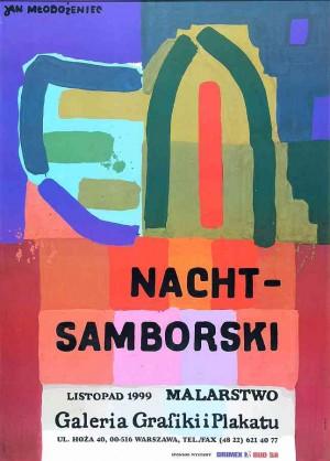 Nacht – Samborski Painting Jan Młodożeniec Polish exhibition poster