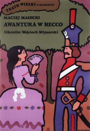 Awantura w Recco Maciej Małecki Jan Młodożeniec Polish opera poster