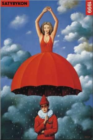 Satyrykon 1999 Rafał Olbiński Polish exhibition poster