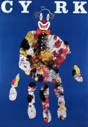 Circus Blue Hand Andrzej Pągowski Polish circus poster