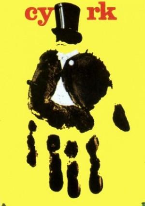 Circus Yellow Hand Andrzej Pągowski Polish circus poster