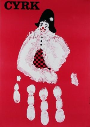 Circus Red Hand Andrzej Pągowski Polish circus poster