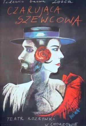 Shoemaker s Prodigious Wife Hanna Bakuła Polish theater poster
