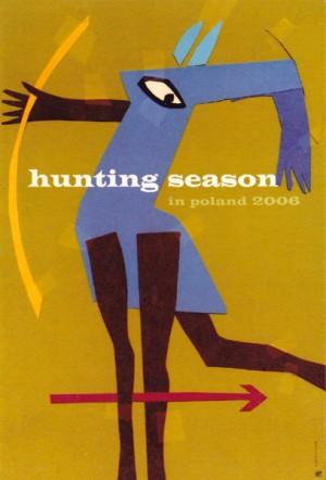 Hunting Season in Poland Elżbieta Chojna Polish poster art