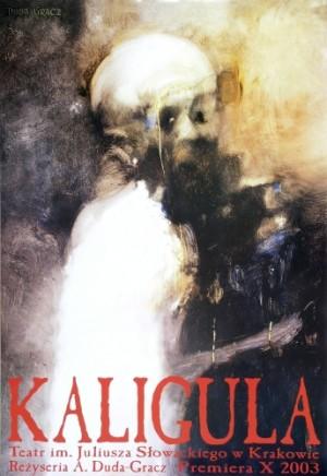 Caligula Jerzy Duda-Gracz Polish theater poster