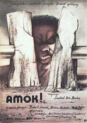 Amok Souheil Ben-Barka Jerzy Głuszek Polish Poster