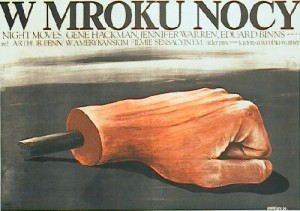 Night Moves Arthur Penn Krzysztof Nasfeter Polish movie poster