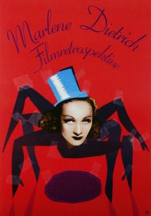 Marlene Dietrich Filmretrospektive Elżbieta Chojna Polish poster art