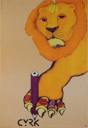 Circus Lion Danuta Żukowska Polish circus poster