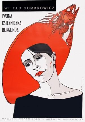 Yvonne, Princess of Burgundy Bolesław Polnar Polish theater poster