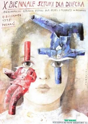 Biennale of Art for Children Wiktor Sadowski Polish Poster