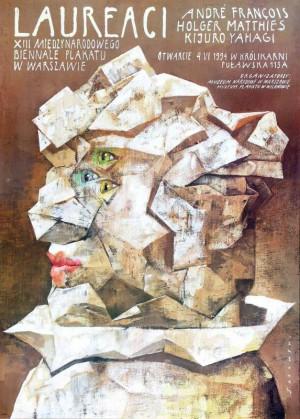 Winner of 13. Poster Biennial Wiktor Sadowski Polish exhibition poster