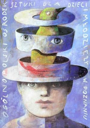 Centre of Art for Children Poznań Wiktor Sadowski Polish Poster