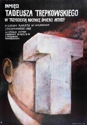 Tadeusz Trepkowski. In memoriam Wiktor Sadowski Polish exhibition poster