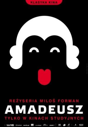 Amadeus Milos Forman Joanna Górska Jerzy Skakun Polish movie poster