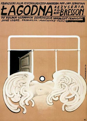 Gentle Creature Robert Bresson Franciszek Starowieyski Polish movie poster