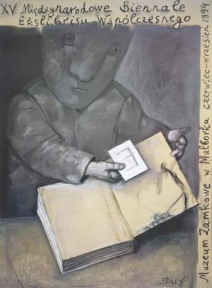 Biennale of Contemporary Exlibris - 15th Stasys Eidrigevicius Polish exhibition poster