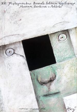 Biennale of Contemporary Exlibris - 16th Stasys Eidrigevicius Polish exhibition poster