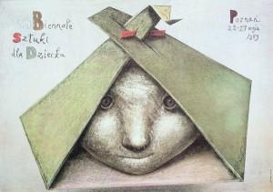 Biennale of Art for Children in Poznan - 8th Stasys Eidrigevicius Polish exhibition poster