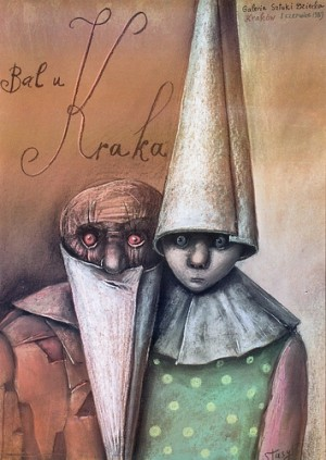 Bal by Krak Stasys Eidrigevicius Polish exhibition poster