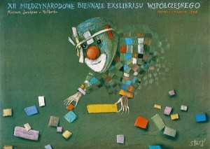 Biennial of contemporary exlibris in Malbork 12nd Stasys Eidrigevicius Polish exhibition poster